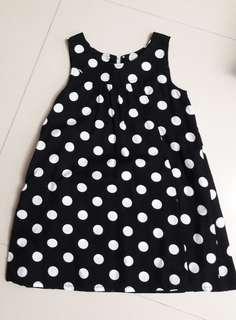 Black n white polka dots dress from Japan