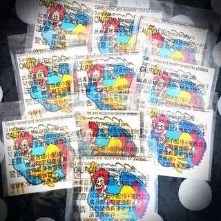 絕版外面買不到的麥當勞叔叔紋身貼紙10張組--款式A