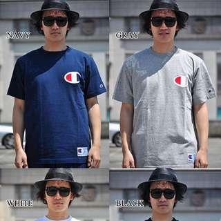 🚚 正版@CHAMPION全新男大T L號藍色 售690元 短袖)