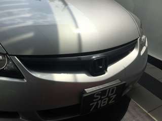 Carbon design grill for civic fd
