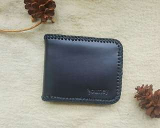Leather wallet stitched