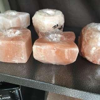 Himalayan salt candleholder
