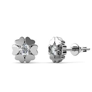 Swarovski® Crystals - Earrings Hear Petal
