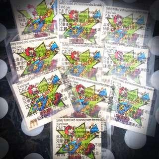 絕版麥當勞叔叔紋身貼10張組--款式B