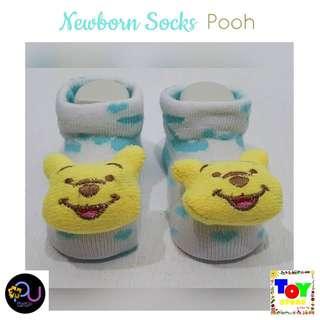 Newborn Socks Pooh Mint