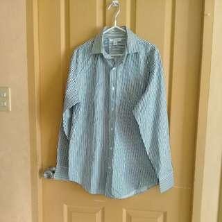 Blue/white stripes polo shirt