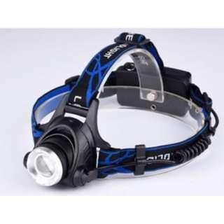 Lampu zoom bisa pake batre charge T6 / Headlamp - HAP010