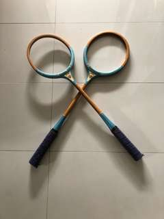 Pair of vintage Cambridge squash racquets
