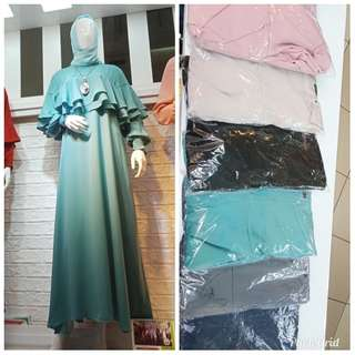 Gamis wolly crepe
