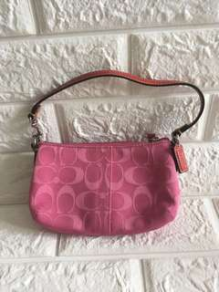 Coach pink purse small