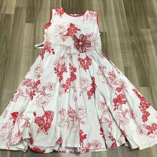 Rose white dress