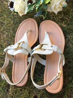 Authentic Charles and Keith white sandals