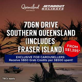 7D6N Drive Southern Queensland (Includes: Fraser Island)