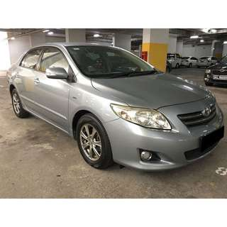 09/03-12/03/2018 TOYOTA ALTIS ONLY $195.00 ( P PLATE WELCOME)