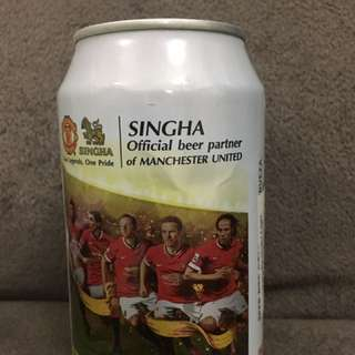 Manchester United Beer can (empty)