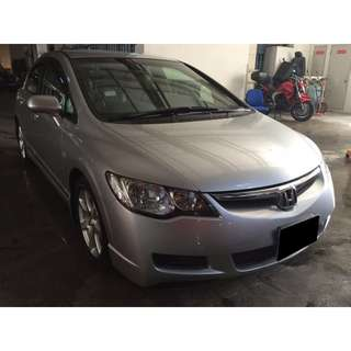 09/03-12/03/2018 HONDA CIVIC 1.6A ONLY $195.00 ( P PLATE WELCOME)
