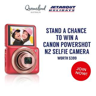 WIN A CANON PowerShot N2 Selfie Camera Pink
