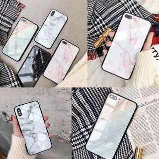 大理石玻璃手機殼