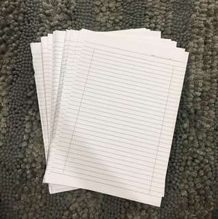 Sheets of papers