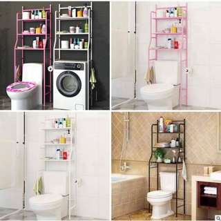 Bathroom organizer toilet rack