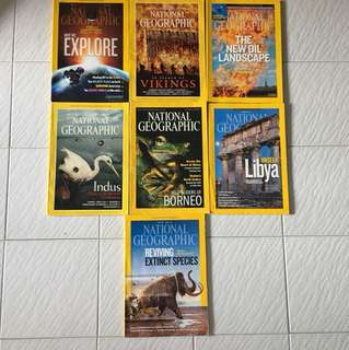 7 copies for $2.50 National Geographic [Year 2000/2013]