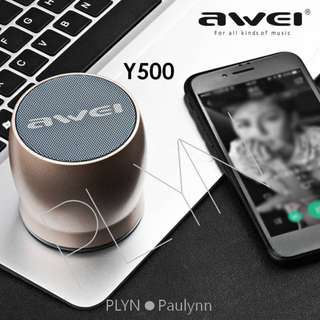 Awei Y500 Bluetooth Speaker Wireless Speaker Gold Colour Only