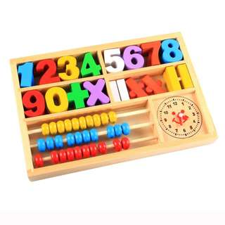 Wooden Baby Kids Digital Number Learning Box Educational Toy
