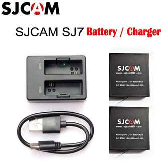 SJCAM SJ7 STAR 1000mAh Battery / Dual-Slot Travel Charger/ Battery Set