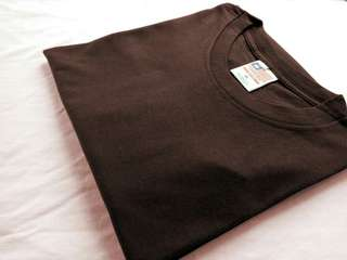 Kaos Polos Built Up 30s Dark Brown