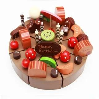 BN Wooden Chocolate Birthday Christmas Decoration Party Cake Toy