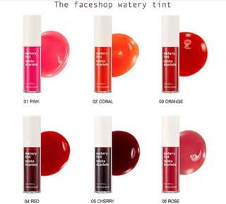 Watery liptint