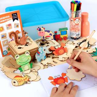 Wooden Kids Baby Little Painter Drawing and Painting Educational Toy