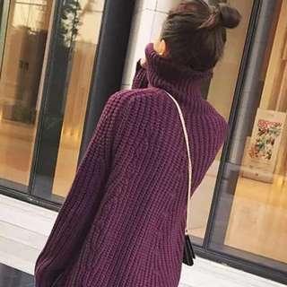 高領毛衣胸圍120衣長65