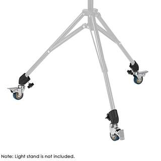 PXEL AATP 3pcs Heavy Duty Caster Wheel for Tripod or Light Stand