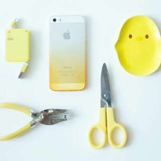 Pocket Cable Charger Android and Iphone (Yellow)
