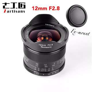 7artisans 12mm F2.8 Wide Angle APS-C Manual Focus Lens Widely Fit for Mirrorless Cameras Fuji X-A1 X-A10 X-A2 X-A3 A-AT X-M1 XM2 X-T1 X-T10 X-T2 X-T20 X-Pro1 X-Pro2 X-E1 Fuji FX Mounts
