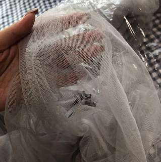 Wedding - Grey Tulle Fabric 10m