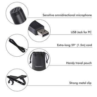 Saramonic ULM5 USB Lavalier Clip-On Computer Microphone