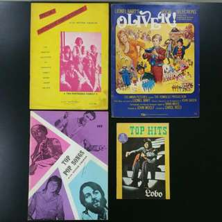 1970s Vintage Pop Music Books