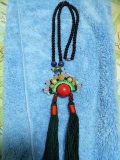 Hand made long necklace