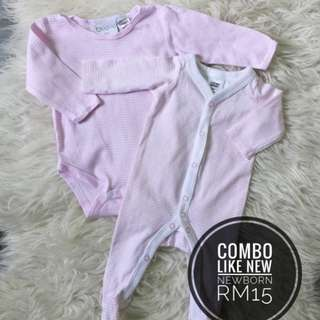 Combo Newborn Baby Sleepsuit