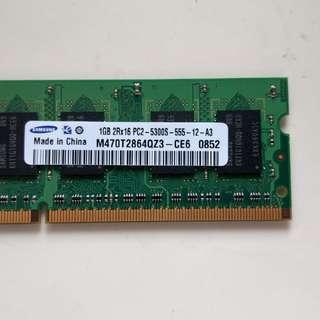 Samsung 1GB DDR2-667 notebook RAM (PC2-5300S)
