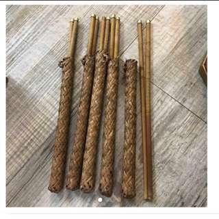 兩對越南套竹筷子,可掛名牌或點綴chopsticks fm Vietnam, hang name tag