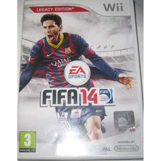 Wii Game Disc - Wii FIFA 14 (PAL) . for PAL version console player