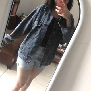 oversize denim jeans jacket
