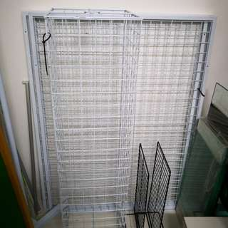 Hook mesh display metal rack multipurpose business bazaar