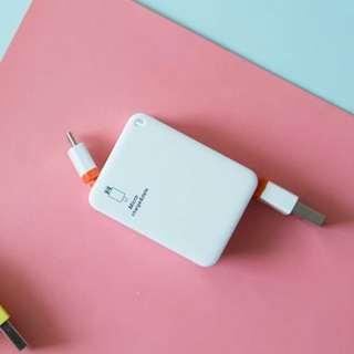 Pocket Cable Charger Android and Iphone (White)