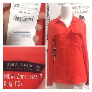 NEW Kemeja Lengan panjang merk Zara Basic ori