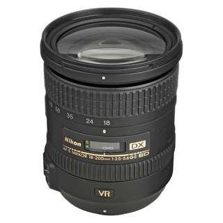 NEW Nikon 18-200mm VR II f3.5-5.6 G AF-S DX ED Lens