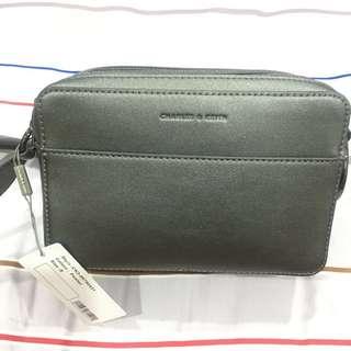 charles & keith sling bag grey ori